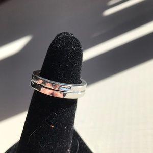 Hammered metal stackable rings!